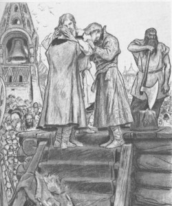 Песня про царя Ивана Васильевича, молодого опричника и удалого купца Калашникова.
